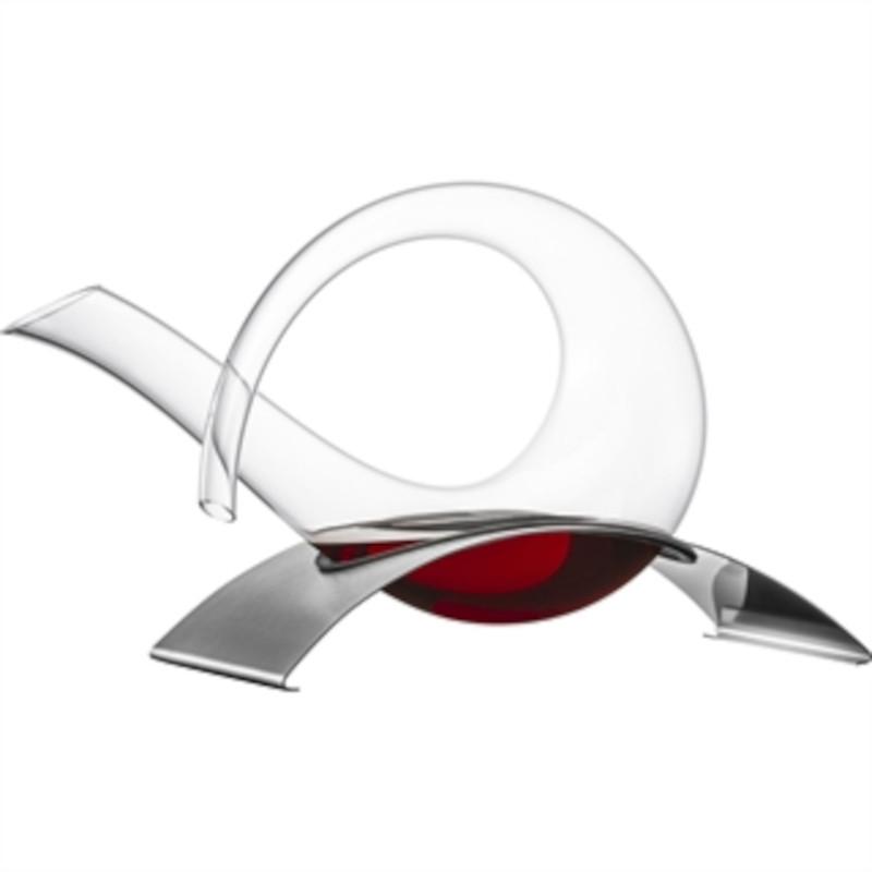 Eisch Glas Crystal Duck Wine Decanter 750ml with S/Steel Base